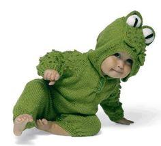 Yeşil örgü çocuk tulum