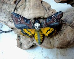 Items similar to Death's head moth necklace, Large hawk moth necklace, Butterfly necklace, Insect jewelry, Polymer clay necklace on Etsy Insect Jewelry, Animal Jewelry, Cute Moth, Moth Tattoo Design, Moth Species, Butterfly Flowers, Butterflies, Deaths Head Moth, Butterfly Species