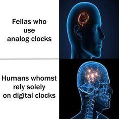 digital clocks expanding brain memebest
