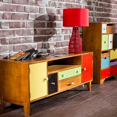 CROCHET asztali lámpa piros 30x30x50cm Butler, Sideboard Table, Shops, Modern Artists, Cabinet, Storage, Vintage, Furnitures, Home Decor