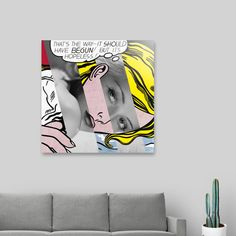 Discover «Roy Lichtenstein's Hopeless & Bette Davis», Exclusive Edition Acrylic Glass Print by Luigi Tarini - From $85 - Curioos