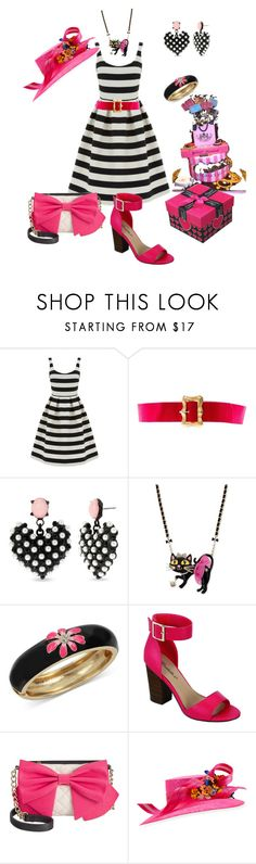 """Happy Birthday!"" by glamourgrammy ❤ liked on Polyvore featuring Warehouse, Chanel, Betsey Johnson, Breckelle's and Philip Treacy"