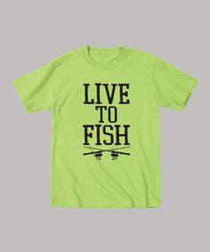 Another great find on #zulily! Key Lime 'Live to Fish' Tee - Toddler & Boys #zulilyfinds