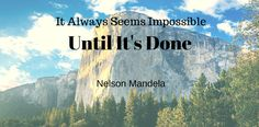 It always seems impossible until it's done -Nelson Mandela Cable Management, Nelson Mandela, Flooring, Traditional, Usa, Cord Management, Wood Flooring, Floor, U.s. States