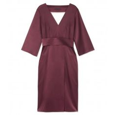Swoon! The Row Mulberry Gabbro Dress - Three-Quarter Length Sleeves Dress - ShopBAZAAR