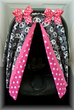 FLANNEL carseat canopy car seat cover pandas by JaydenandOlivia, $39.99