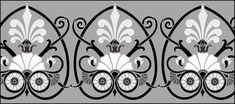 Regency and Empire  Border No 18 stencils, stensils and stencles