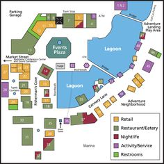 Sandestin Village of Baytowne Wharf Map - Destin Florida Shopping, Destin Restaurants