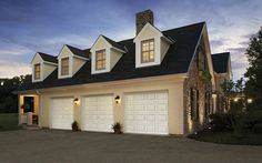 Designing Garage with Black Garage Doors with Windows - Lighthouse Garage Doors - Lighthouse Garage Doors