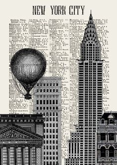 STOCK EXCHANGE NYSE  print poster mixed media painting illustration drawing