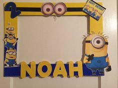 Minions Party Photo Booth Frame.