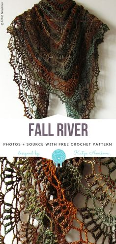 Crochet shawl 451063718927138793 - Fall River Free Crochet Pattern Source by Crochet Shawl Free, Crochet Shawls And Wraps, Crochet Scarves, Crochet Yarn, Crochet Clothes, Crochet Lace Scarf, Lace Shawls, Free Knitting, Crochet Accessories