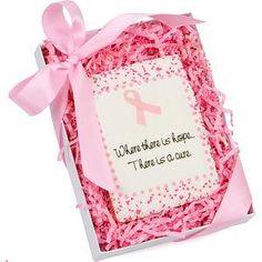 Pink Ribbon Cookie Card Gift Box
