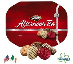 Jacobs Afternoon Tea 1Kg (35.2oz) $29.69 - Traditionally seen as seasonal offerings for Christmas time, Jacob's offers an eclectic mix of assorted biscuits, which cover various eating occasions. The product selection in Jacob's Afternoon Tea consists of 12 different biscuits, all but 2 of which are chocolate-covered. Irish Cookies, Irish Recipes, Chocolate Covered, Afternoon Tea, Christmas Time, The Selection, Biscuits, Seasons, Classic