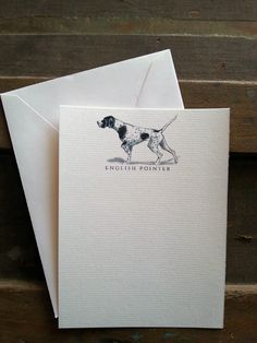 English Pointer Dog Note Card Set by canadaonce on Etsy http://www.turmericfordogs.com/blog