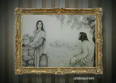 사마리아여인과 예수님10호 요한복음4장6-14