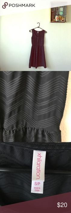 Black Dress - Native texture This is a black dress that has a native chevron pattern. It is size small,  only worn once. Xhilaration Dresses Midi