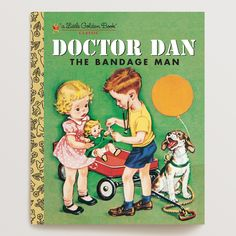 Make story time timeless with Doctor Dan the Bandage Man. With its charming story, engaging illustrations and signature gold spine, it's one of the beloved Little Golden Books that have been delighting children for generations. Perfect as a gift or to build a new tradition with your little ones, this story of a little boy who heals people with his trusty bandages is a classic addition to any book collection.