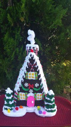 GINGERBREAD HOUSE OOAK Handmade crochet by emcrafts on Etsy