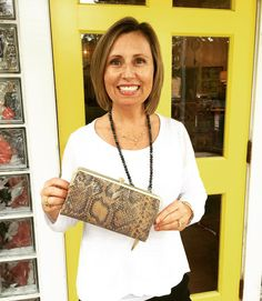 As the Christmas season approaches the Two Friends Girls are here to help with all of your holiday shopping! We're excited to bring you the TF Girls Gift Guide. Everyday we'll feature a TF Girl and one of her favorite gift ideas for Christmas! Stay tuned for lots of inspiration! First up Alex loves the @hobotheoriginal Lauren python clutch. A perfect everyday wallet that easily pulls double duty as an evening clutch. A must-have for any girl on your list! {$128} #tfssi #stsimons #seaisland…