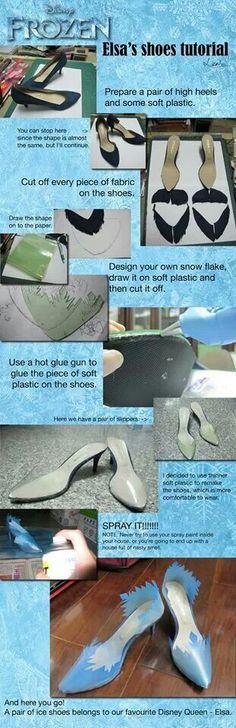 If I did Elsa's shoes I'd have to do flats. I cannot walk in heels.