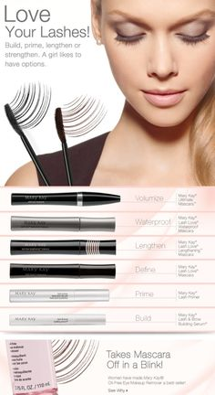 My Favorite Mascaras! All from Mary Kay! http://www.marykay.com/lisabarber68 Call or text 386-303-2400
