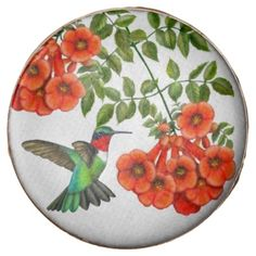Ruby Throated Hummingbird on Trumpet Vine Cookies Chocolate Covered Oreo  #chocolate  #gifts