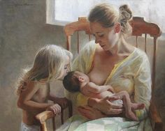 Breastfeeding painting
