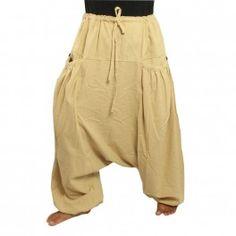 Sarouel Afghani Afghan pantalon coton mélanger avec 2 poches en forme de coquillage
