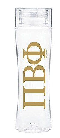 pi beta phi sorority water bottle gold letters 2200 great greek gift 24