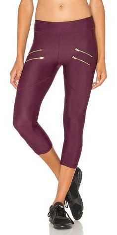 On SALE at 35% OFF! x REVOLVE Crop Legging by Varley. 80% polyamide 20% elastane. Stretch fit. Front zipper accents. VARR-WM55. VEX0001.