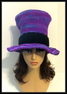 Crocheted Mad Hatter hat