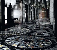 carrelage mosaique de sol en marbre, verre et pierre de design italien exlusif