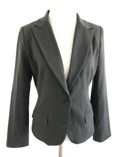 NEW Casual Stripe Cuff Ponte Terry Flap Pocket One Button Suit Jacket Blazer