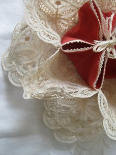 Warm Mother's Heart and Buns with this Vintage Doily Bun Warmer by VintageVagabondToo on Etsy