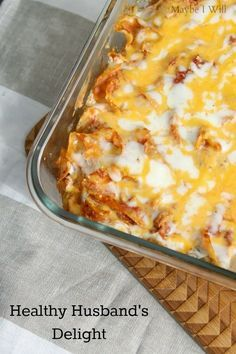 This Hubby's favorite gets a healthy and tasty makeover!! So yummy!!! #healthy #makeover #manfood {www.maybeiwill.com}