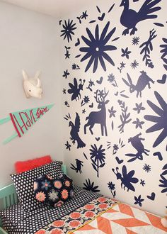 DIY otomi wall - made with vinyl!