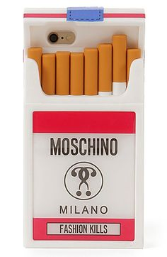 Moschino 'Fashion Kills' iPhone 6 & 6s Case. I don't smoke, but this is pretty cool