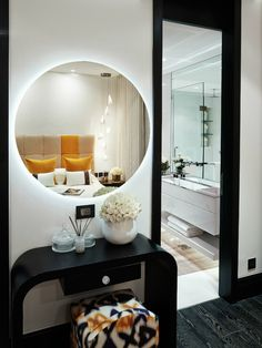Mirror with leds