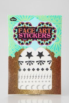NPW Starry Eyed Face Art Stickers