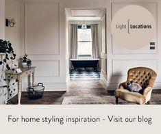 Inspiration - Chinoiserie Interior Styling, Interior Design, English Kitchens, Black And White Interior, Cosy Corner, Stylish Kitchen, Scandinavian Home, Beautiful Kitchens, Industrial Style