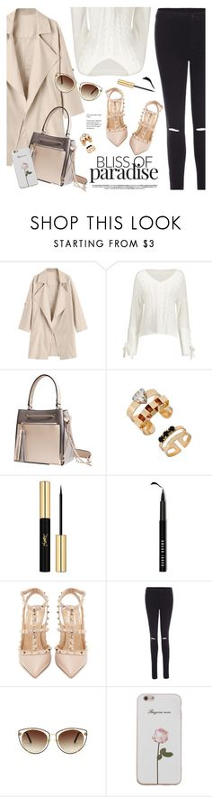 """""""Sin título #1304"""" by yexyka ❤ liked on Polyvore featuring Yves Saint Laurent, Bobbi Brown Cosmetics and Valentino"""