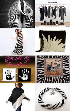 Black and White. Zebra! by Jelena Karpjuka on Etsy--Pinned with TreasuryPin.com