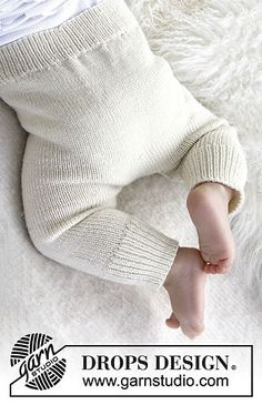 """Ravelry: b21-36 """"Cozy and Cute"""" - Pants in """"Baby Merino"""" pattern by DROPS design. 1 month to 4 years"""