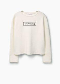 Printed cotton sweatshirt | MANGO