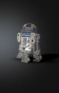 R2-D2 in Helvetica