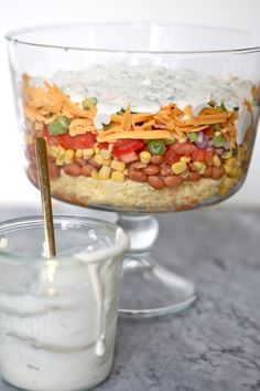 Cornbread Salad with Ranch Dressing (could be good for those family potlucks)