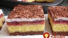 Obrátený slivkový koláč s kyslou smotanou a čokoládou: Ak máte doma slivky, bol by hriech nevyskúšať ho, fantázia! Tiramisu, Cheesecake, Ethnic Recipes, Desserts, Food, Basket, Tailgate Desserts, Deserts, Cheese Cakes