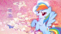 ♡ On Pinterest @ kitkatlovekesha ♡ ♡ Pin: TV Show ~ My Little Pony: Friendship is Magic ~ Rainbow Dash Wallpaper ♡