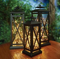 Huacenmy Solar Star String Lights Outdoor Solar Powered Garden Twinkling Fairy Lights, Warm White Path Lights For Garden Porch Patio Decor Hanging Patio Lights, Patio Lanterns, Lanterns Decor, Patio Lighting, Outdoor Lantern, Outdoor Decorations, Tree Lanterns, Outdoor Candles, Roof Lantern